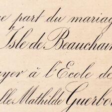 Charles Albert Isle De Beauchaine 1881 Claire Mathilde Guerbois L'Ermitage