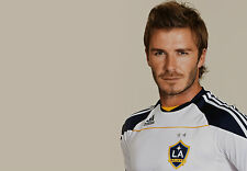 Framed Print - David Beckham in LA Galaxy Football Strip (Picture Poster Art)