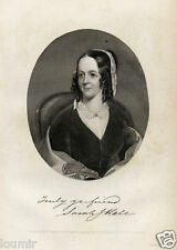 1850= DONNE VITTORIANE = Deliziosa Antica  Stampa