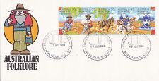 "1980 Australian Folklore """"Waltzing Matilda"""" Fdc - Northam 6401 Pictorial Pmk"