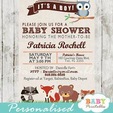 Woodland Baby Shower Invitation - Printable Digital File