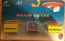 Scene Master HO Scale Part #1660 Flat Car Load Grain Boxes