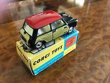 Vintage Corgi Toys / MIB / Mini Cooper w/ Wickerwork Upgrade / No. 249