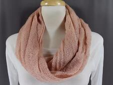Pink sparkly scarf circle infinity endless loop long gauze lightweight