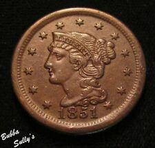 1851 Braided Hair Large Cent <> N-19 R3 <> Extremely Fine