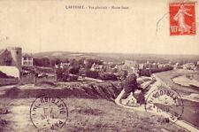 CPA 50 Face Jersey Portbail Barneville CARTERET Vue générale Marée basse 1910