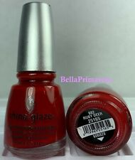 China Glaze Nail Polish * RUBY DEER 882 #26165 Holiday Red Discontinued Lacquer