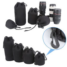 4 Pieces Thick Protective Neoprene Pouch/ Bag/ Case Set for DSLR Camera Lens