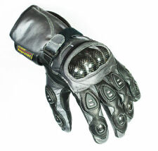 Unbranded Fingers Leather & Textile Motorcycle Gloves
