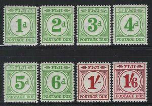 Fiji 1940 Postage Due set Sc# J12-19 mint