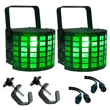 2 x American DJ Mini Dekker LED Lighting Effect RGBW DMX 2 x 10W Package