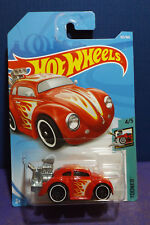"Hot Wheels New 2018 ""TOONED""  VOLKSWAGEN BEETLE, Tooned series 4/5. Long card."