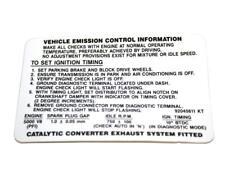 Holden Label Emission Control VP VR VS 4 # 92045611