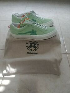Converse X Golf Le Fleur Jade Lime Tyler The Creator Size 13 RARE Size NEW DS
