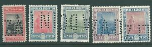 ARGENTINA early used 'Back of Book' stamp collection