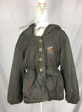 Richie House Girl's Jacket Cotton Hooded with tie waist and fleecy lining Sz M/L