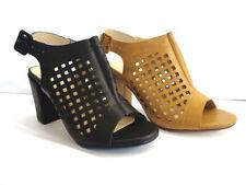 Peep Toes Standard (D) Block Spot On Heels for Women