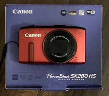 Canon PowerShot SX280 HS 12.1MP 20X Optical Digital Camera w/ GPS, WiFi - Red