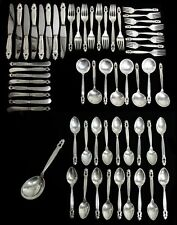GEORG JENSEN ACORN STERLING SILVER 58 PIECES FLATWARE SET