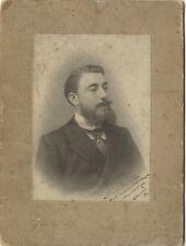 Portrait d'un homme Versailles Photo Georges Vintage Argentique