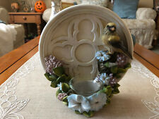 Home Interiors Finch Candle Holder Plaque