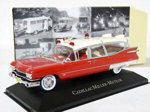 Atlas 1/43 1959 Cadillac Miller-Meteor Ambulance Diecast Model Car