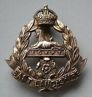 British Army, East Lancashire Regiment Cap Badge. KC. Brass.
