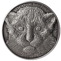 Burundi 2014 The African Baby Five - Leopard 5000 Francs 1oz Silver Coin