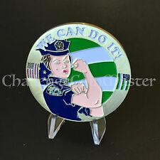 B90 Police Officer Women POW! Rosie Nypd Challenge Coin