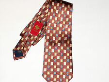 New Olimpo Bronze Tie w/Leaves Theme in 100% Silk Made In Spain MSRP $95