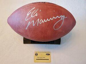 ELI MANNING signed Wilson football Game Ball DUKE Steiner Sports COA GIANTS