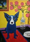 Oil Painting Blue Dog / 2000's Artwork , Style of Rodrigue / Signed