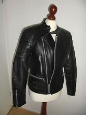 vintage Motorradjacke Bikerjacke Lederjacke oldschool motorcycle jacket 46 S/M