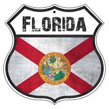 FLORIDA State Vintage Flag Novelty Highway Shield Metal Sign
