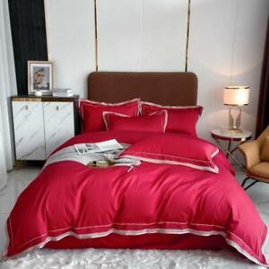 EgyptianCotton Duvet Cover White Bedding Set Soft Bedsheet Pillowcases