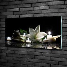Glas-Bild Wandbilder Druck auf Glas 100x50 Deko Blumen & Pflanzen Weiße Lilie