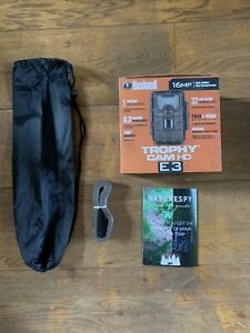 Bushnell Trophy Cam HD E3 16MP Night Vision Brown Trail Camera With 32GB SD Card