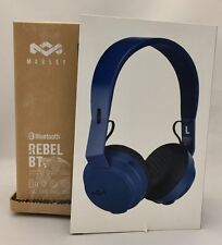 House of Marley Rebel BT On-Ear Bluetooth Headphones (EM-JH101) - Blue