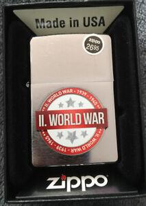 NEWZIPPO World War II Chrome Lighter BNIB WW2 200