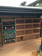 Nissan Primastar Plywood Van Shelving Racking System Case Storage Unit