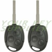 2 New Uncut Replacement 3 Button Remote Head Key Fob For Ford Fiesta KR55WK47899