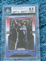 2019-20 Panini Red White Prizm Zion Williamson RC Rookie BGS 9.5,9.5(8.5) PSA🔥