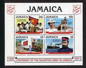 Jamaica Scott #674a MNH S/S Salvation Army in Jamaica Centenary CV$17+