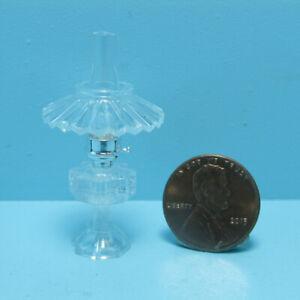 Dollhouse Miniature Chrysnbon Clear Table Top Oil Lamp with Shade CB075