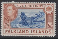Falkland Is GVI 1938-50 5/- dull blue & yellow brown MINT sg161c