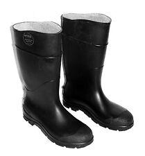Servus ASTM F2413-11 Tall Black Rubber Rain Boots Men's Size 10 Woman's Size 12
