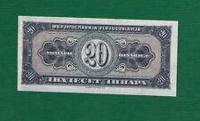 YUGOSLAVIA  20  DINARA 1951 .G. -- RRR - INFOBIRO