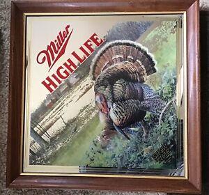"1994 Miller High Life Beer Turkey, ""Show Time""  Diamond Mirror"