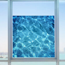 AU Film Water Ripple Window Decal Privacy Glass Cover Home Shower Door Bathroom