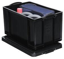 REALLY USEFUL BOX schwarz 84 Liter Lagerbox Stapelbox Kiste Eurobox 640128